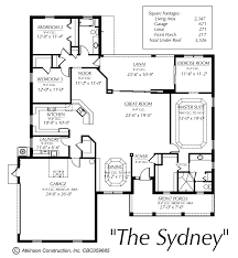 Florida Home Floor Plans The Sydney Atkinson Construction Inc Citrus Marion Levy