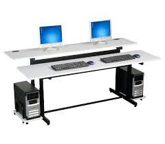 computer desk for dual monitors desk computer desk for two monitors on home computer desk