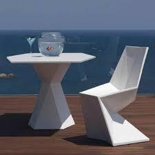 vondom vertex outdoor bistro table patio set