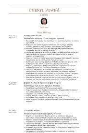 kindergarten teacher resume berathen com