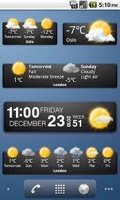 widget android weather widgets yr no appstore for android