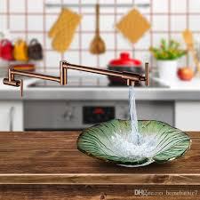 pot filler kitchen faucet 2018 wall mounted restoration kitchen faucet pot filler wall in