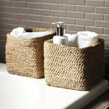 Storage Boxes Bathroom Bathroom Wicker Storage Christlutheran Info