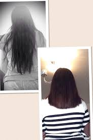 cut and inch off hair i had 7 inches of my hair cut off ready to send off little