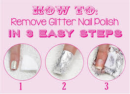 how to remove glitter nail polish in 3 easy steps pink peonies