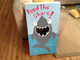 Shark Bean Bag My Diy Feed The Shark Bean Bag The Sea 2nd Birthday