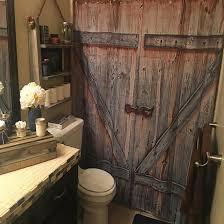 amazon com rustic country barn wood door bath shower curtain