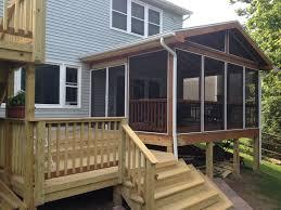 enclosing a screened porch house