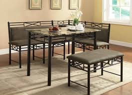 L Shaped Bench Seating Furniture Dining Nook Table With Black Iron L Shape Bench With