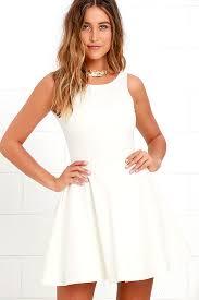 lulus dresses ivory skater dress white homecoming dress 44 00
