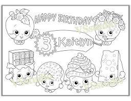 20 shopkins images coloring sheets birthday