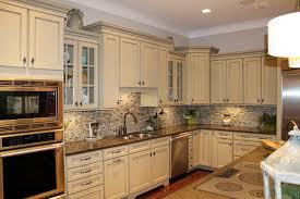 small tile backsplash in kitchen countertops backsplash beige wooden kitchen cabinet copper