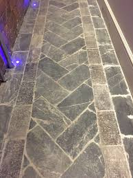 Snap Together Slate Patio Tiles by Laying Sequence 90 Herringbone Pattern This Is The Simpler Of The