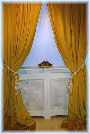 Yellow Curtains For Living Room Living Room Metallic Yellow Velvet Curtains With Glass Window And