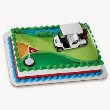 birthday cake pictures golf birthday cakes