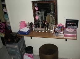 bedroom furniture sets hanging lighted vanity mirror floating