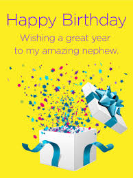 birthday cards for nephew of happy birthday card for nephew birthday