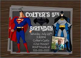 superman birthday invitation with photo printable boy pokemon