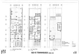 town houses floor plans
