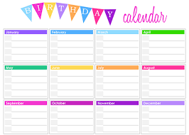 office calendar templates office birthday calendar template