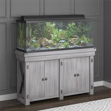 r j enterprises fusion 50 gallon aquarium tank and cabinet stand for aquarium wayfair