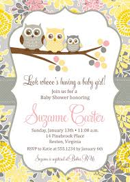 online baby shower owl baby girl shower invitations owl baby girl shower invitations