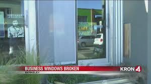 video vandals smash windows of berkeley business owners kron4 com