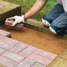 steps with timbers and brick sand set u0026 mortared patios