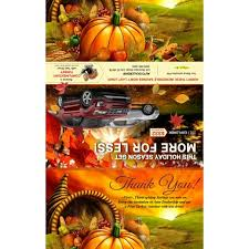 autumn black book thanksgiving gift card mailer