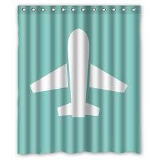 Airplane Shower Curtain Airplane Bathroom Decor