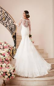 wedding dress with sleeves sleeve wedding gown with illusion back stella york