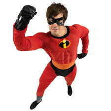 The Incredibles Family Halloween Costumes by Mr Incredible Superhero Costume