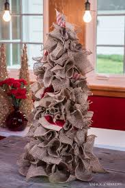 burlap christmas burlap is the key to this alternative diy christmas tree