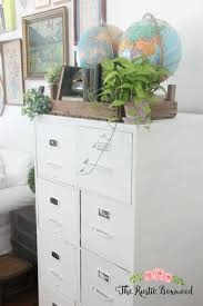 Chalk Paint On Metal Filing Cabinet Metal File Cabinet Makeover The Rustic Boxwood Chalk Paint