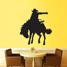 compare prices on mustang wall decals online shopping buy low zuczug black pvc wall stickers cowboy mustang 3d removable wall decals home decor stickers 06