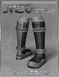 s high boots neo high boots and high top sneaker for genesis 8 s 3d