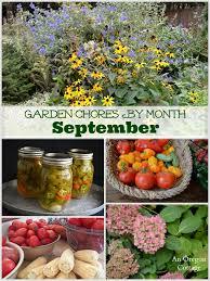 garden chores for september vegetables flowers fruits u0026 lawn