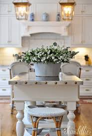 Kitchen Island Farm Table Fresh Farmhouse Love The Table Top With The Studs Around The