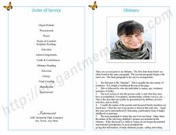obituary templates archives funeral programs
