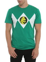 power ranger costume spirit halloween mighty morphin power rangers green ranger costume t shirt topic