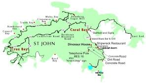 road map of st usvi map of st usvi with directions to calabash views