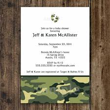 camo baby shower invitation army green by lemontreecards