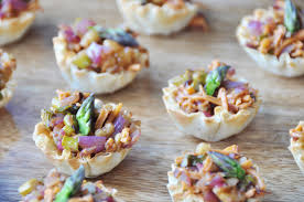 vegan caramelized and asparagus cups veganosity