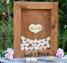 wedding guest book sign wedding guest book alternative heart drop guest book