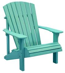 Turquoise Patio Furniture by Luxcraft Poly Deluxe Adirondack Chair Swingsets Luxcraft Poly