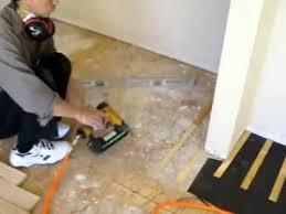 leveling sub floor wood