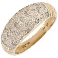 pave set rings images Pre owned 9ct gold 0 50 carat diamond pave set dress ring jpg