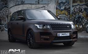 wrapped range rover range rover brown matte car wrapping auto am ge
