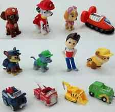 12pcs mini paw patrol figures cartoon character toy cake