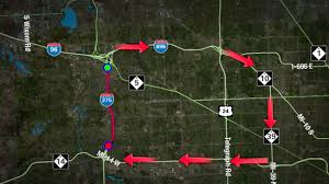 Michigan Traffic Map by Southbound I 275 Closure In Effect Detour Information Here